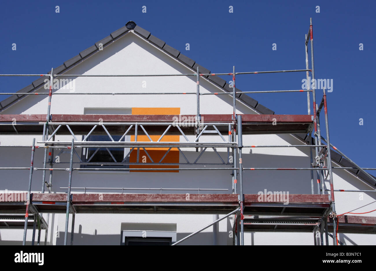 Germany, Bavaria, Munich, Home under construction, close-up - Stock Image