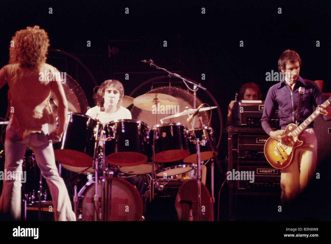 THE WHO UK rock group in 1978 - Stock Image
