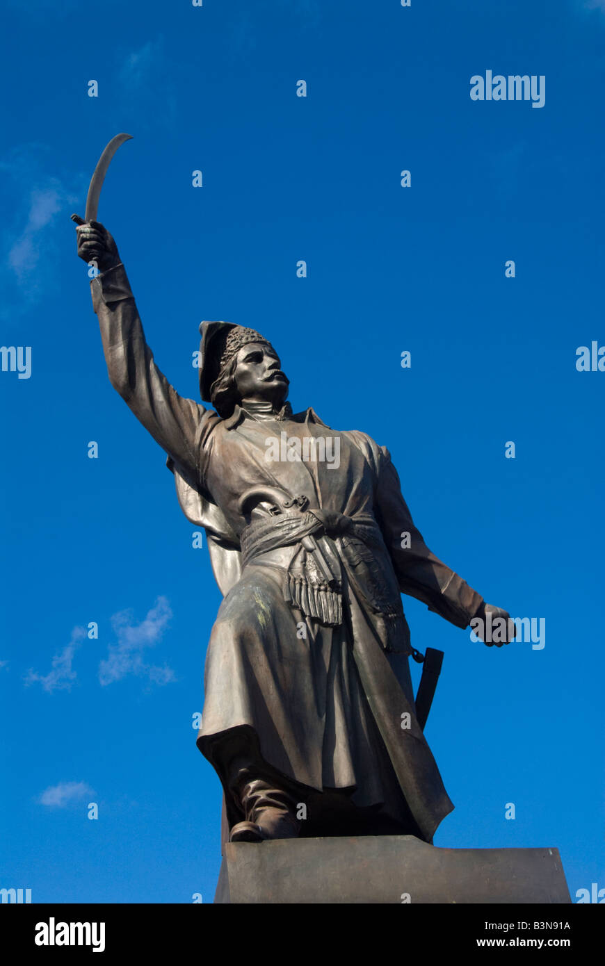 Statue of Jan Kilinski Warsaw - Stock Image
