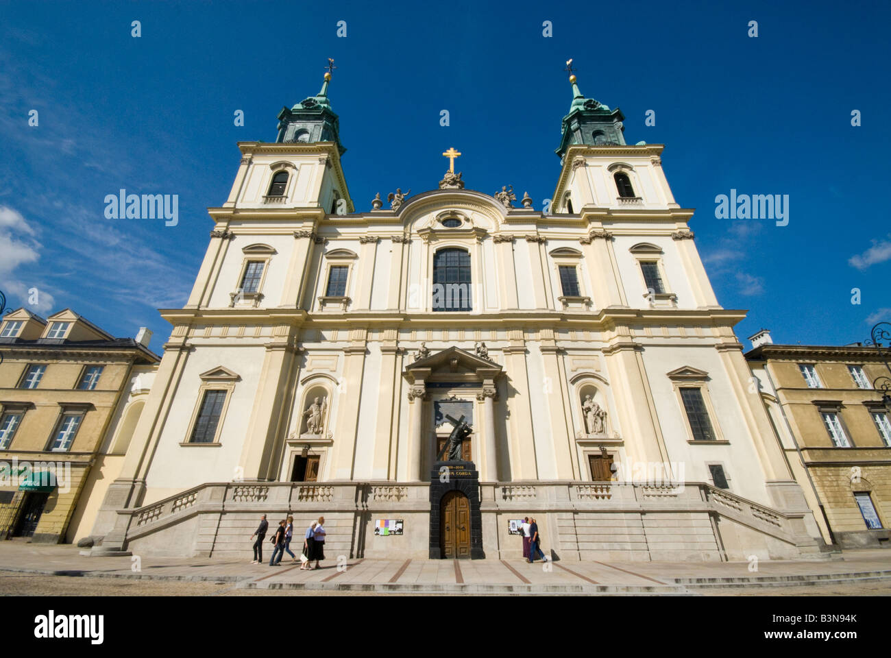 Church of the Holy Cross Warsaw Stock Photo