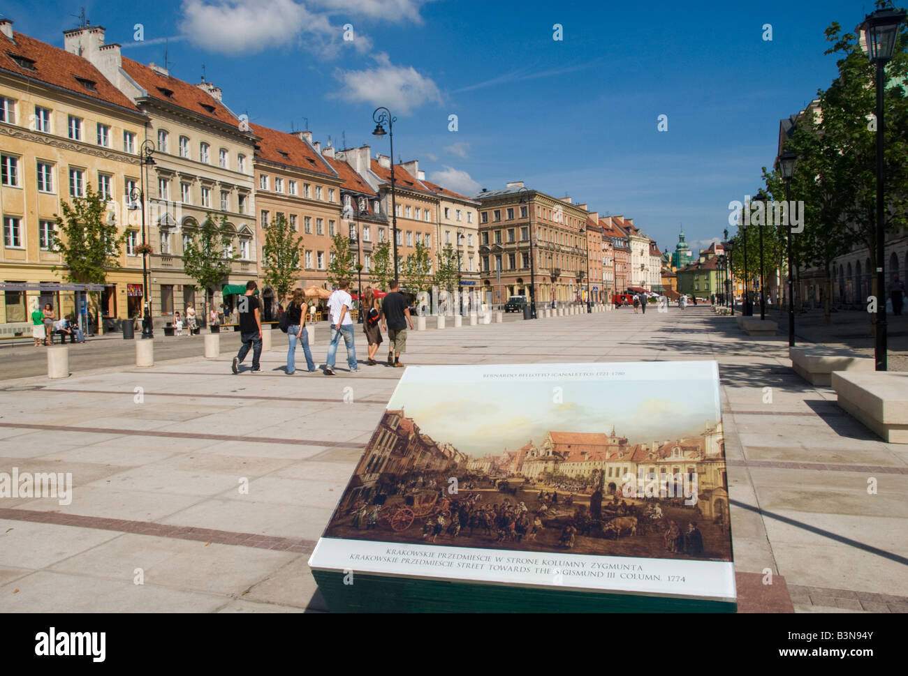 Krakowskie Prezmiescie Warsaw Stock Photo