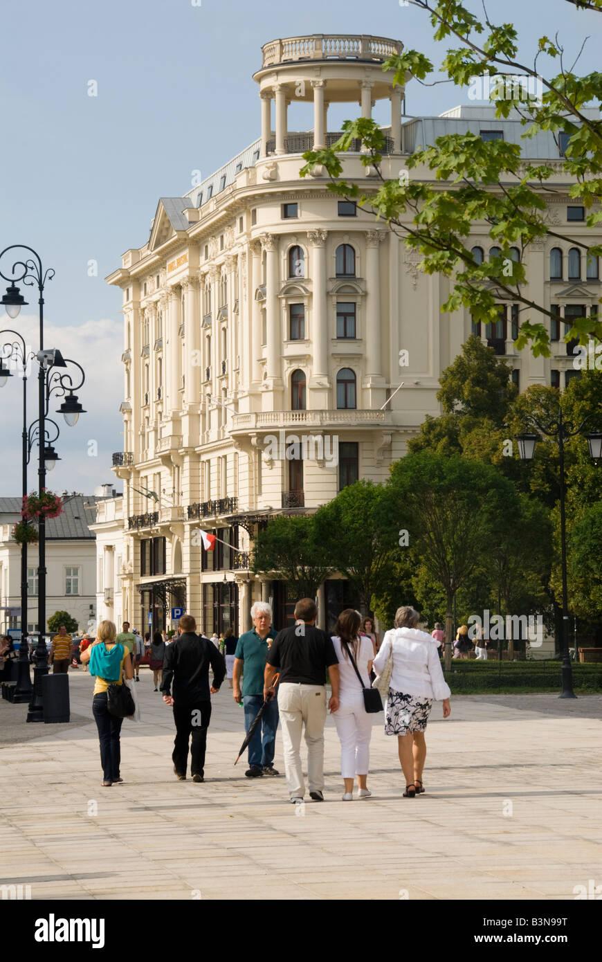 Hotel Bristol Krakowskie Prezmiescie Warsaw Stock Photo