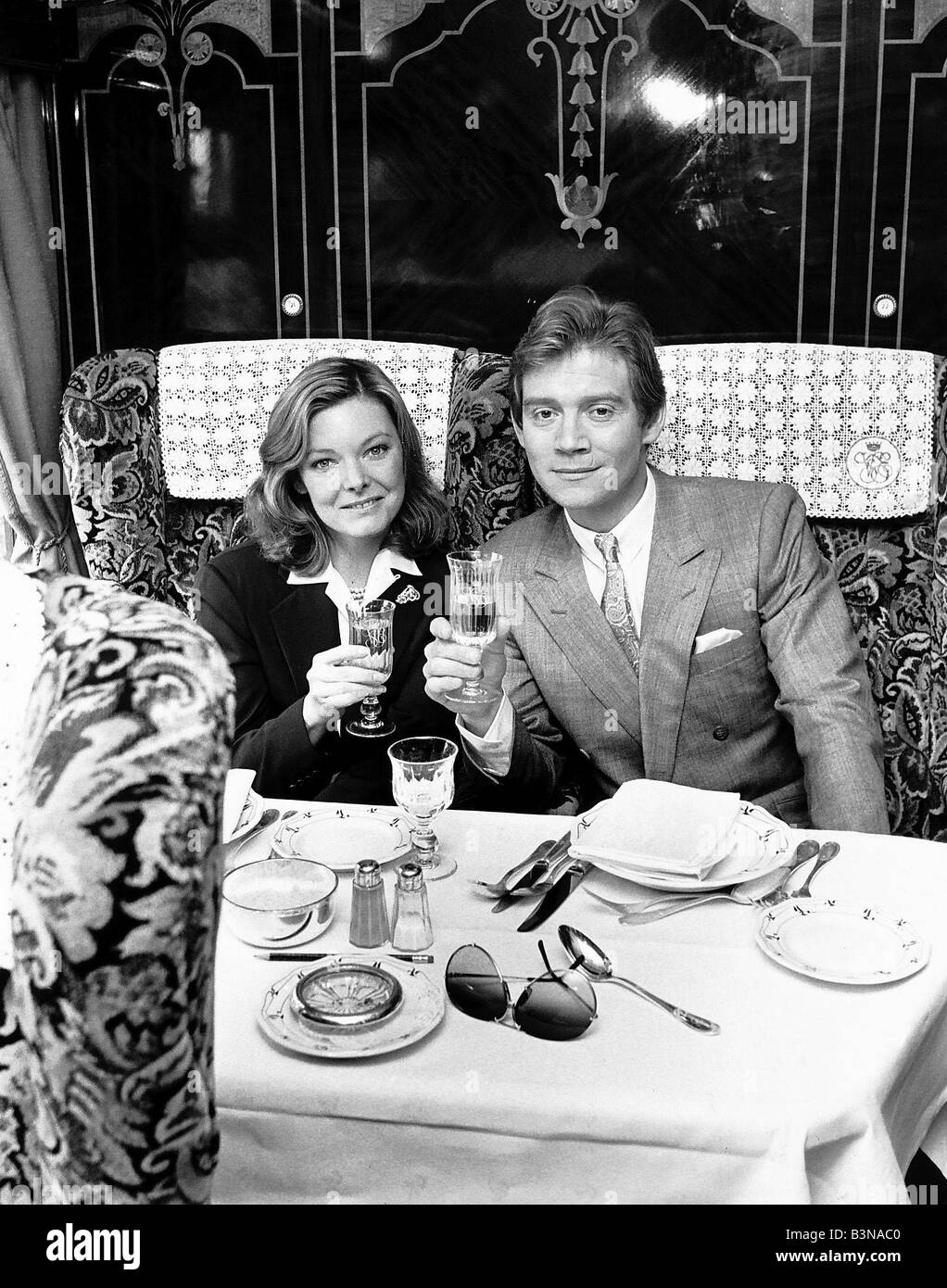TV programme Suspicion Anthony Andrews And Jane Curtin - Stock Image