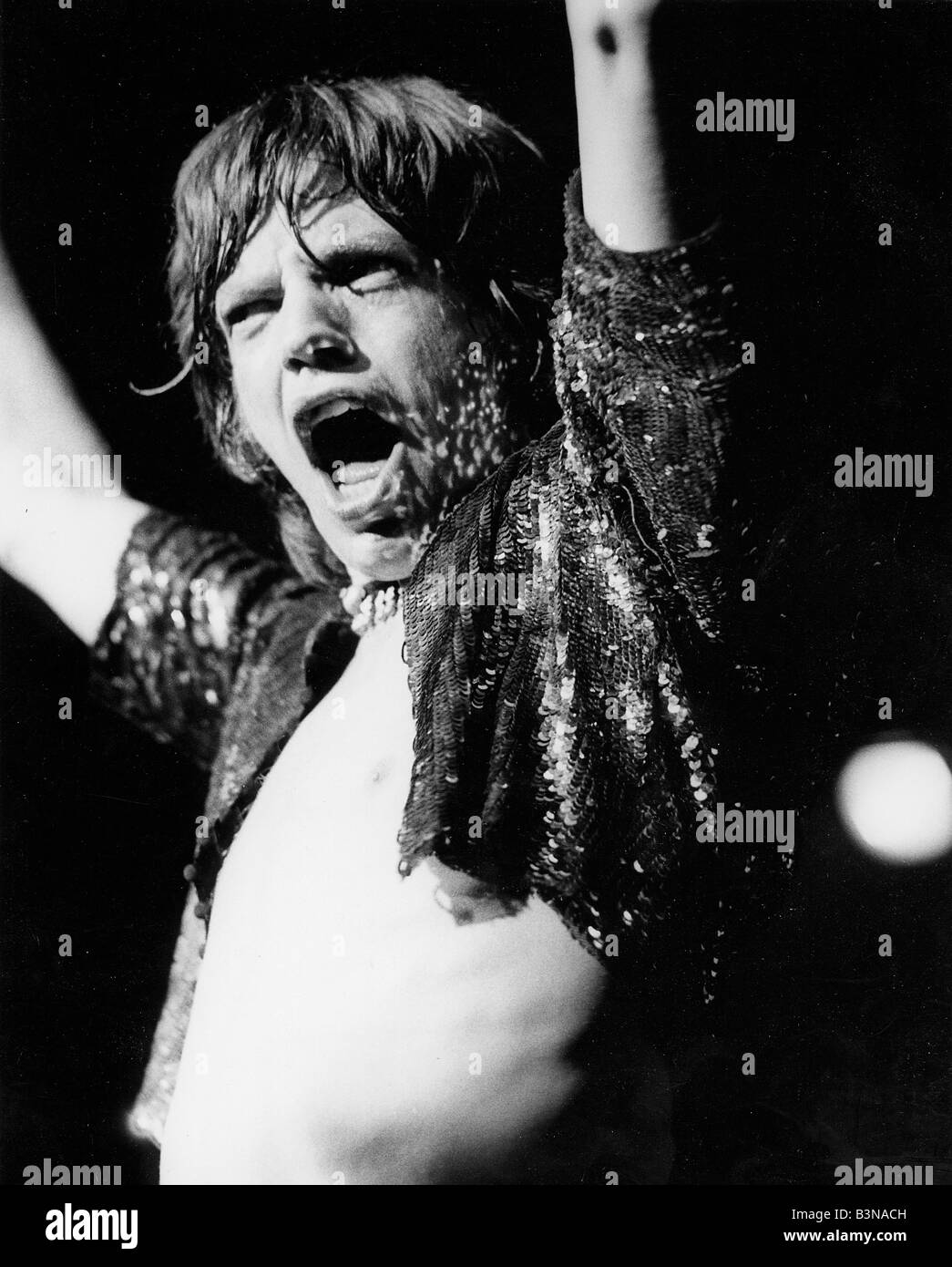 ROLLING STONES  - Mick Jagger in 1973 - Stock Image