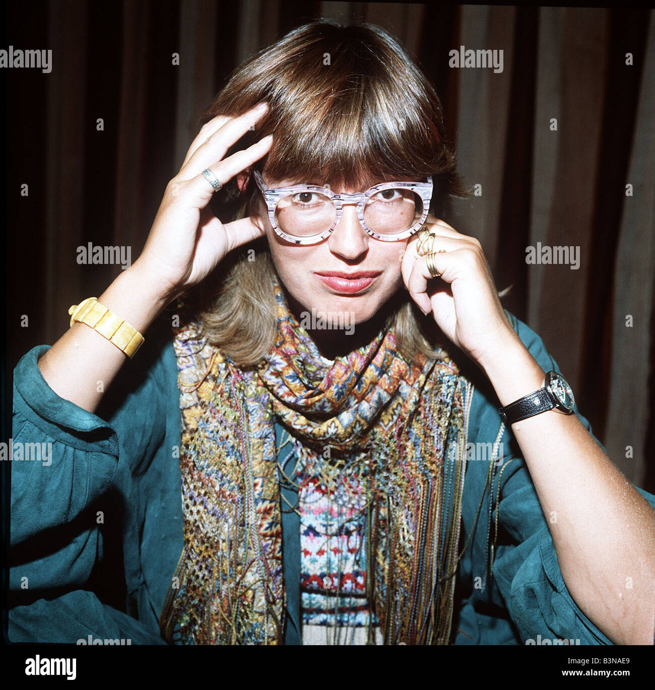 TV presenter Janet Street Porter 1983 - Stock Image