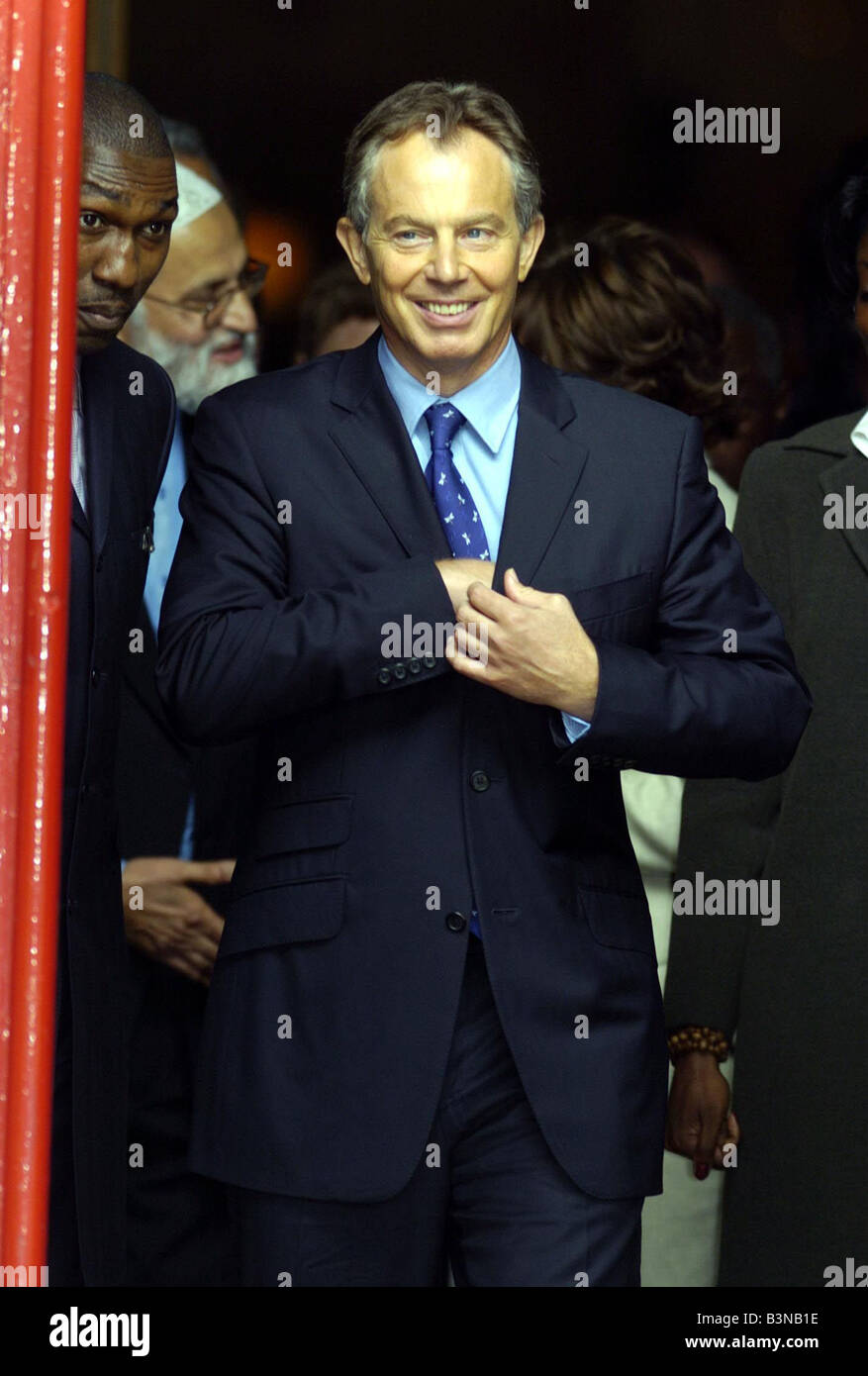 Labour Party Conference September 2004 Tony Blair leaving St Peters Church in the morning - Stock Image
