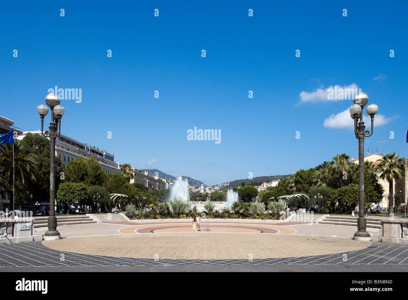 Place Massena, Nice, Cote d'Azur, French Riviera, France - Stock Image