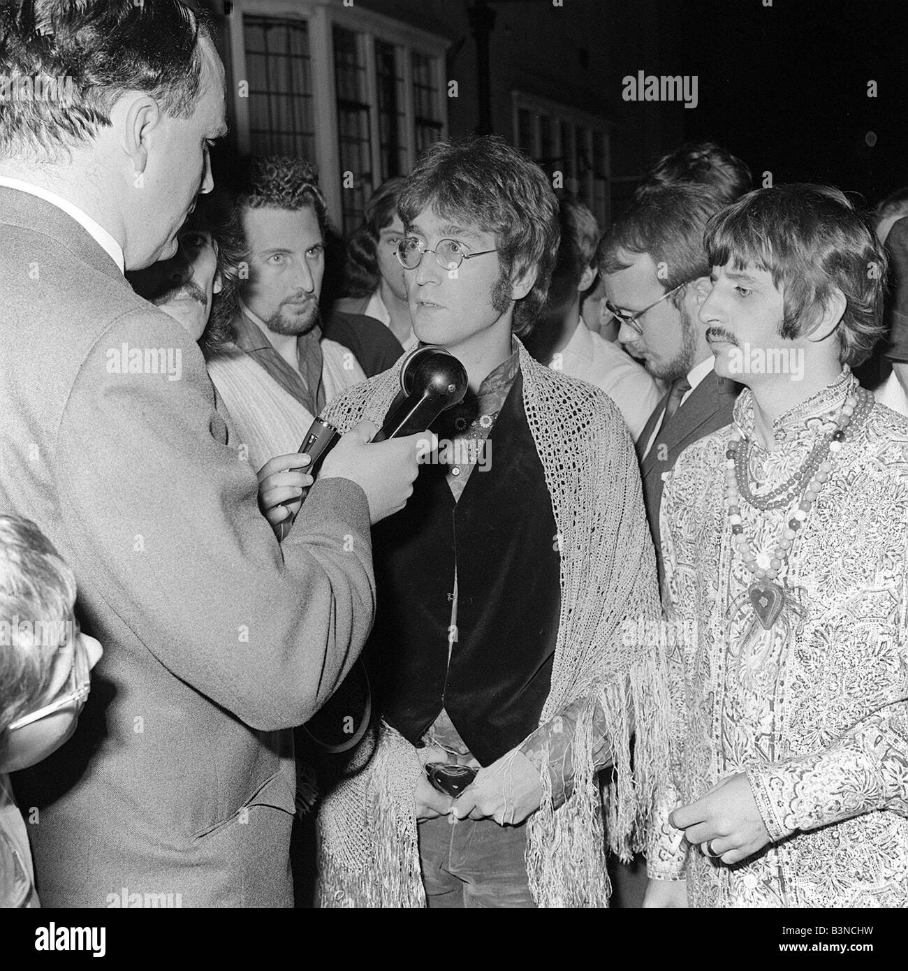 The Beatles Ringo Starr George Harrison And John Lennon August 1967 Talking To Press Media