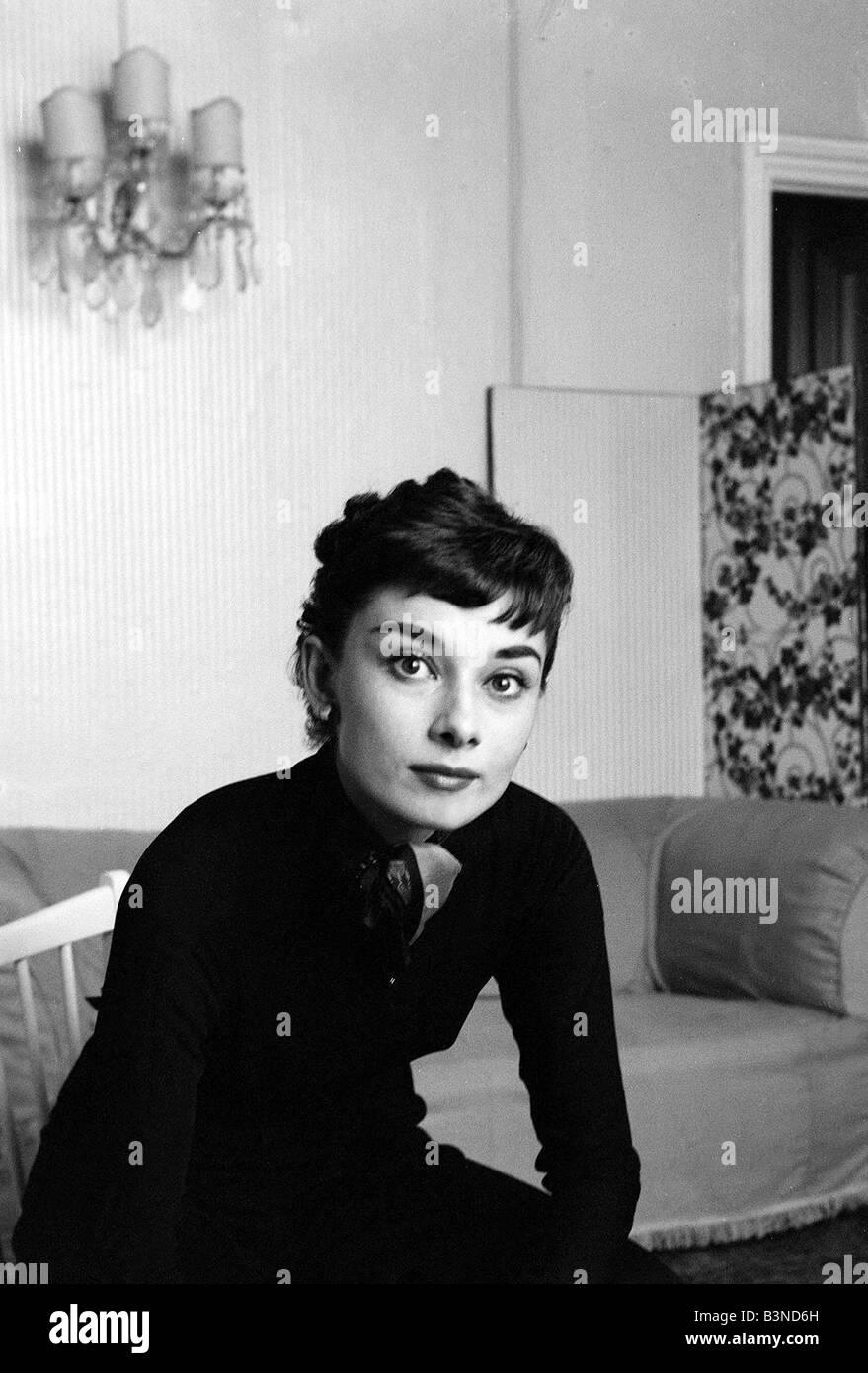 Audrey Hepburn Actress September 1954 - Stock Image