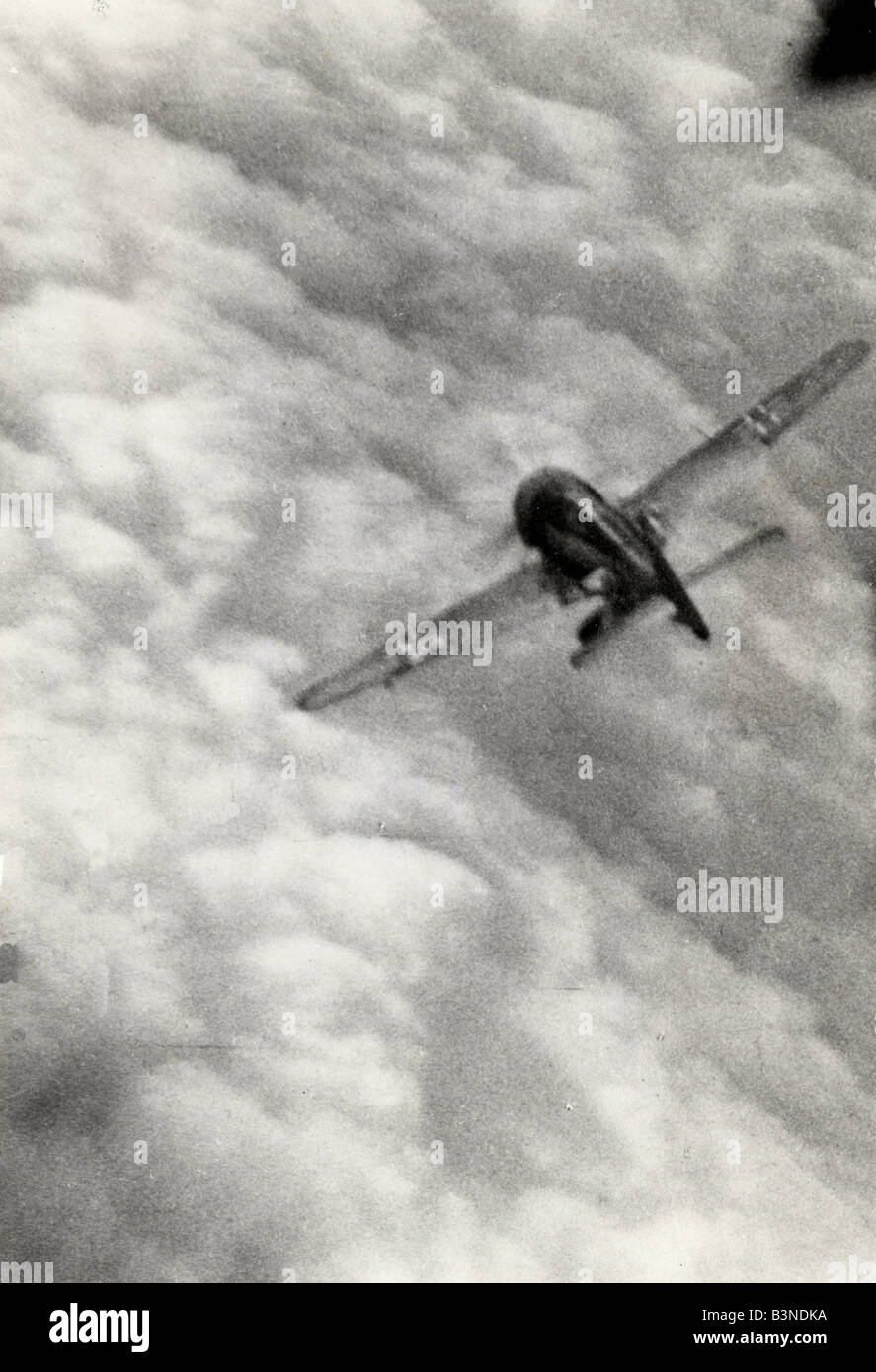 FOCKE-WULF190 - German fighter aircraft caught in the gun camera of an Allied aircraft - Stock Image