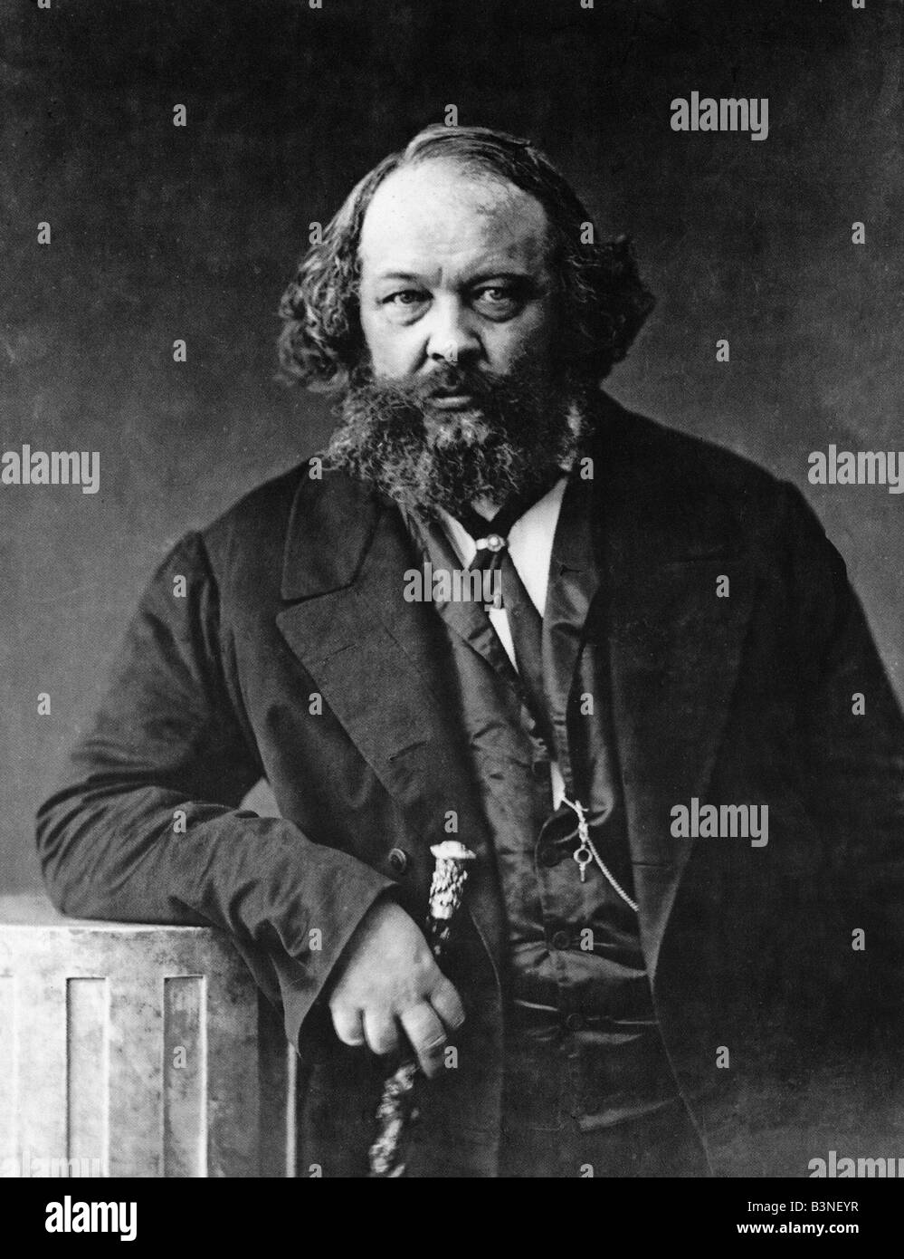 MIKHAIL BAKUNIN Russian revoluionary about 1862 - Stock Image