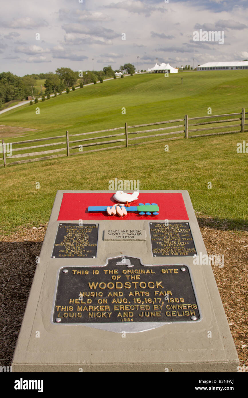 Monument At The Original Site Of The 1969 Woodstock