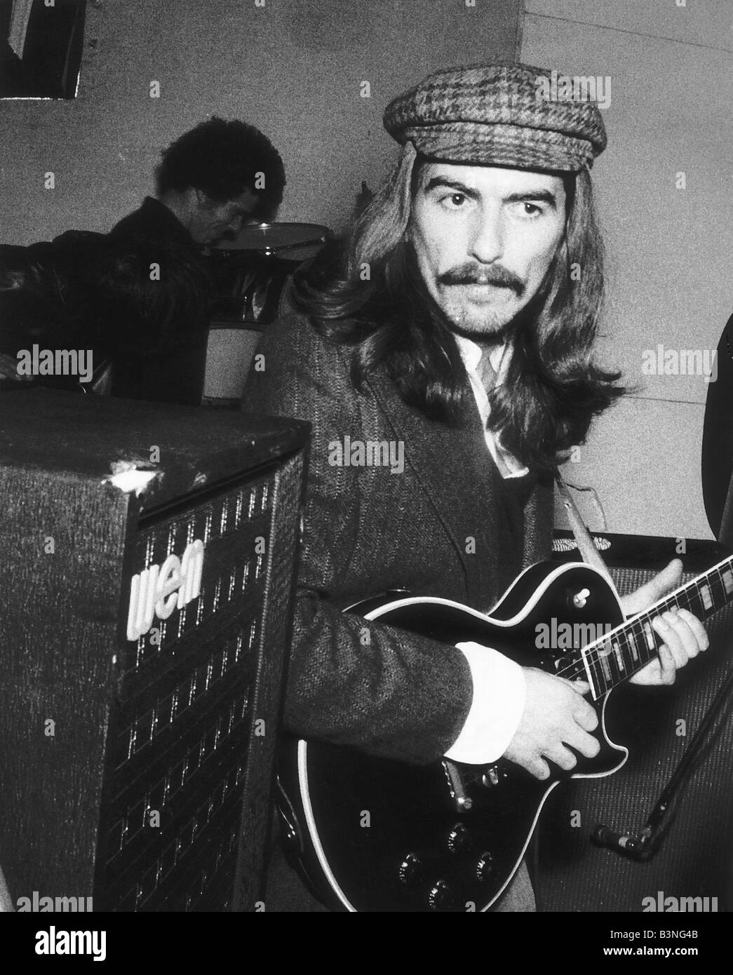 George Harrison Singer with the Beatles Pop Group December 1969 - Stock Image