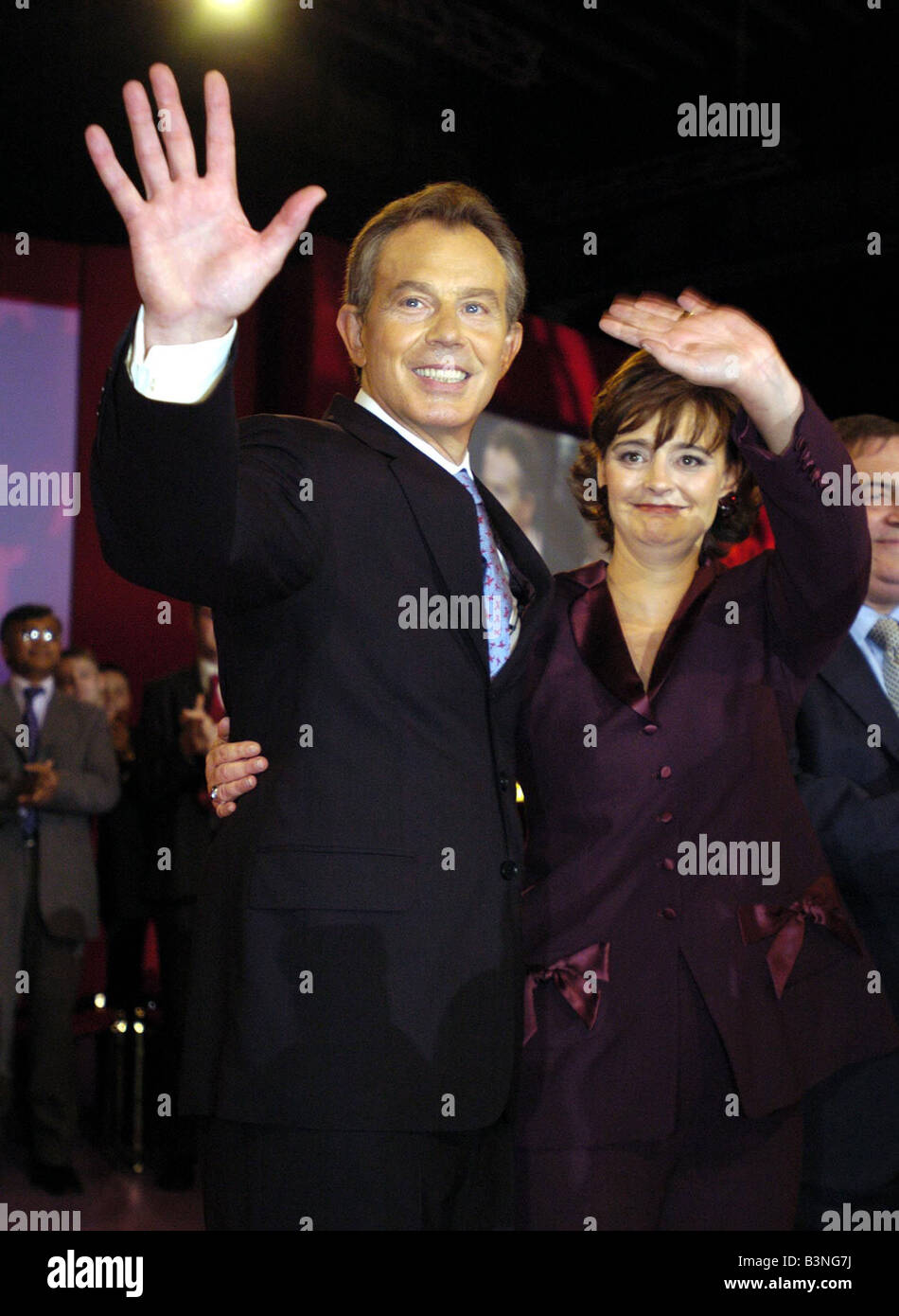 Labour Party Conference Tony Blair and Cherie Blair September 2004 - Stock Image