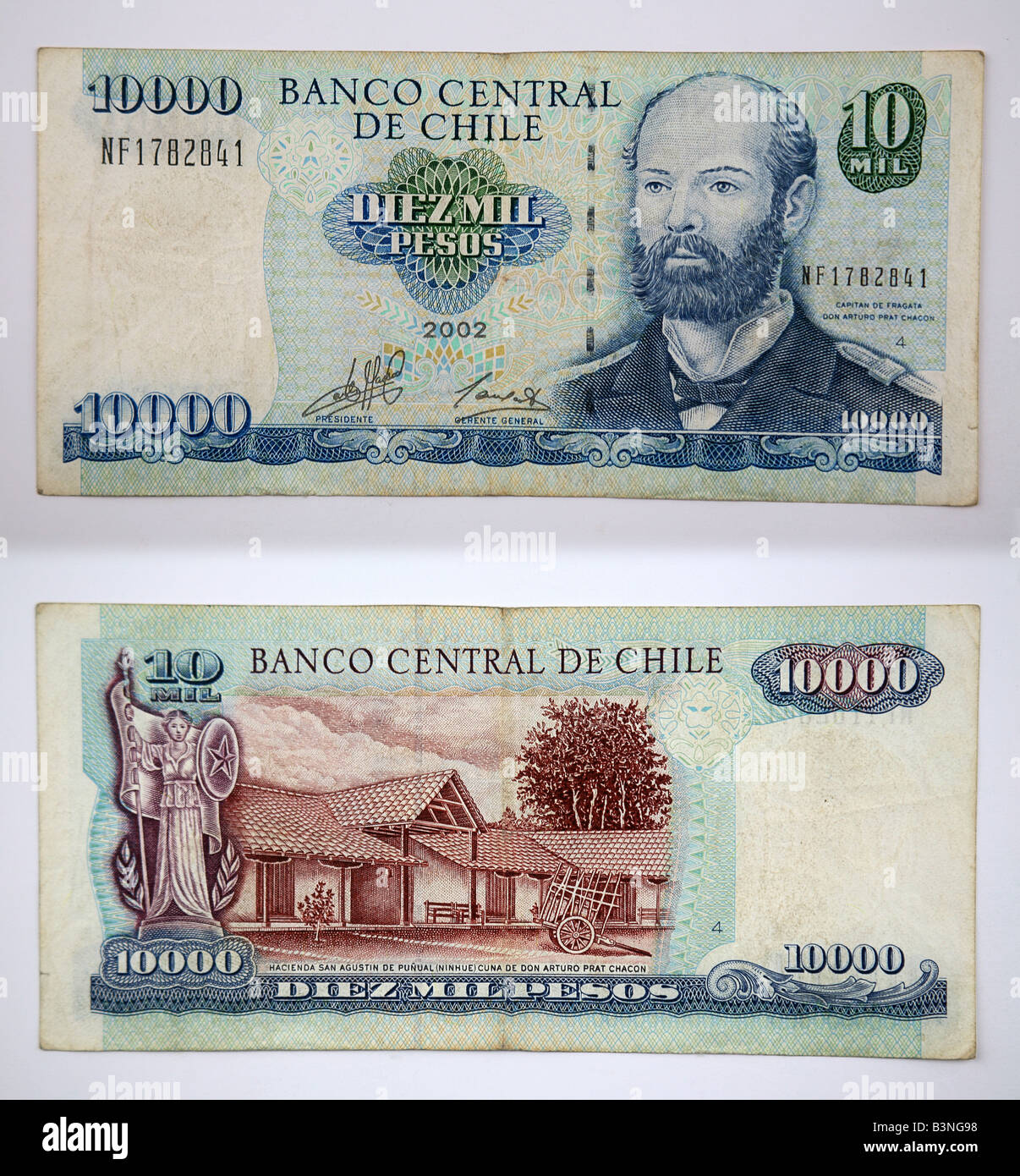1000 Pesos Bank Notes From Chile Banco Central De Chile Stock Photo Alamy