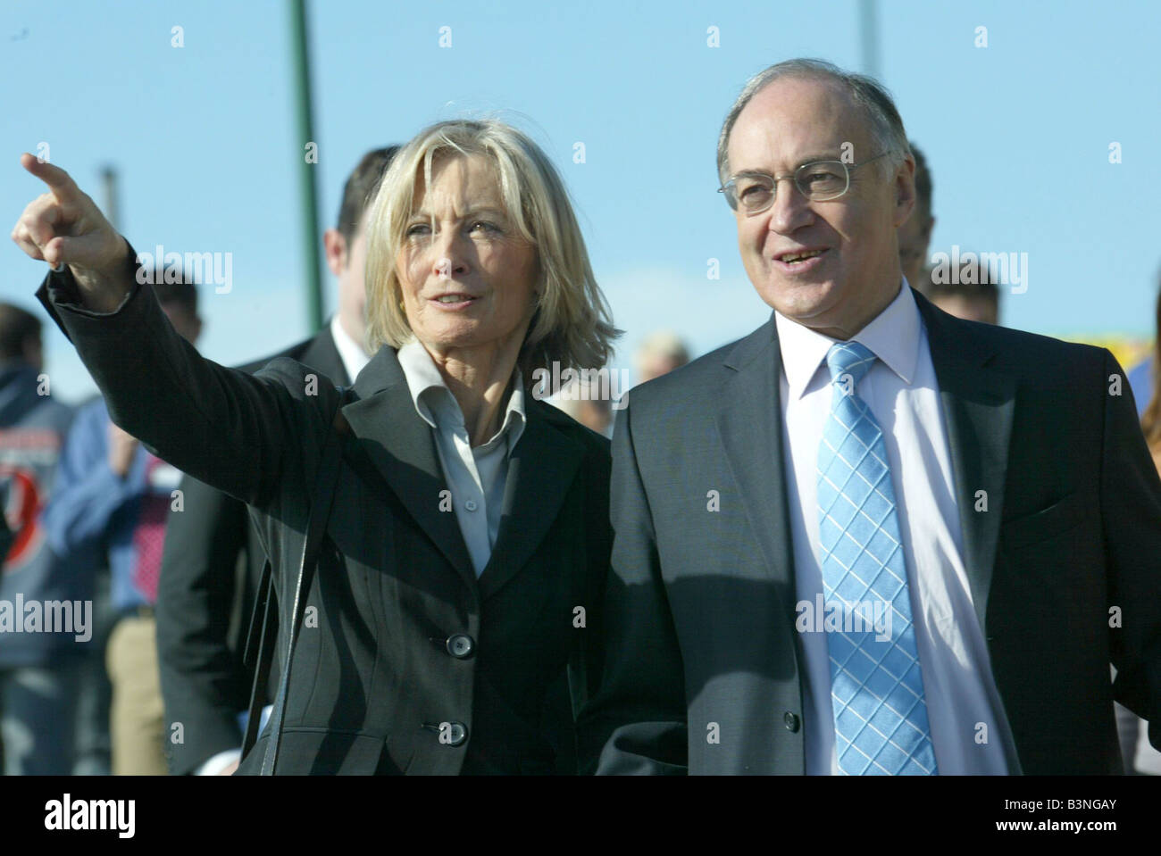 Conservative leader Michael Howard and his wife Sandra at Tory Party Conference in Bournemouth 2004 - Stock Image