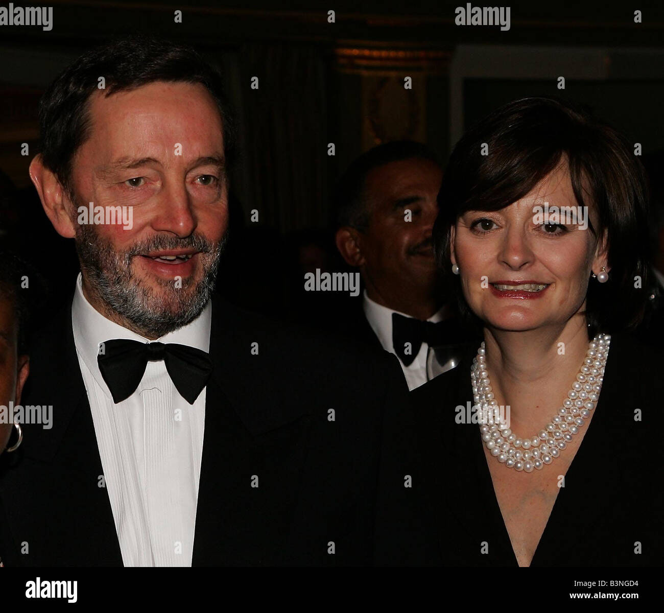 Cherie Blair and David Blunket attend the Stephen Lawrence Charitable Trust dinner to celebrate education and Diversity - Stock Image