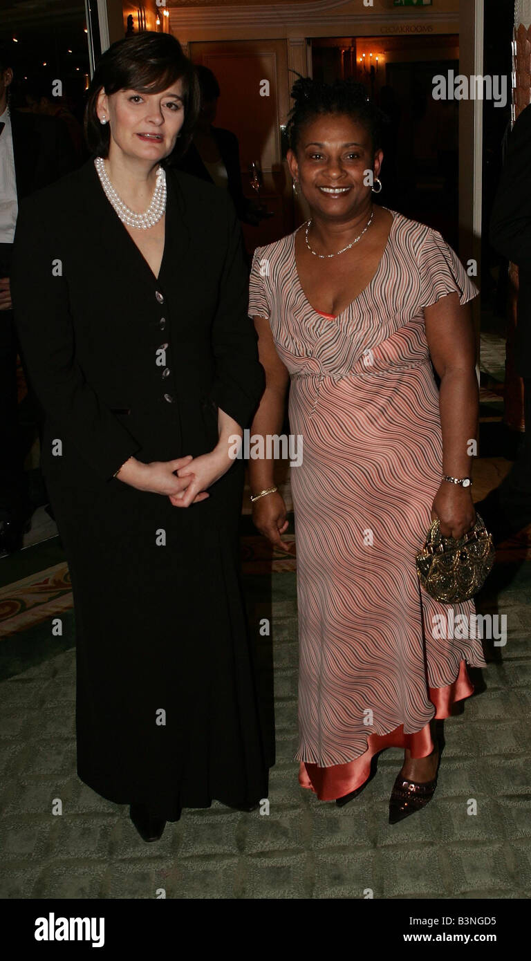 Cherie Blair and Doreen Lawrence attend Stephen Lawrence Charitable Trust dinner to celebrate education and Diversity - Stock Image