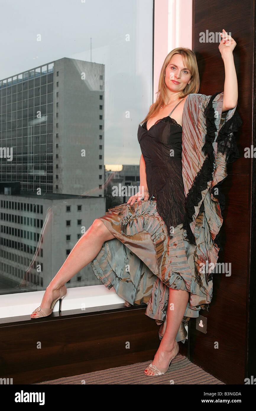 Coronation Street actress Debra Stephenson shot on location at the Lowry hotel Manchester - Stock Image