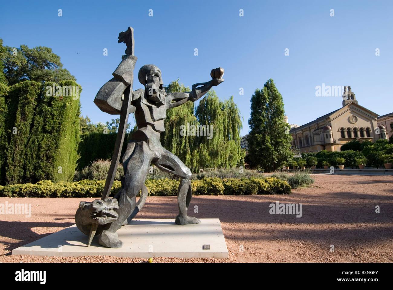Sculpture in Jardin de las Hesperides park in Valencia Spain - Stock Image