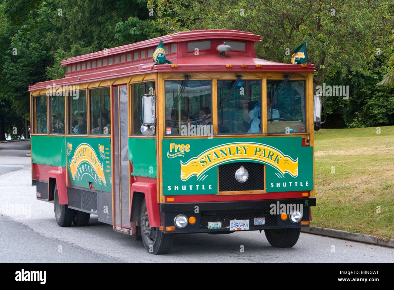 Stanley Park shuttle bus in Vancouver British Columbia Canada - Stock Image