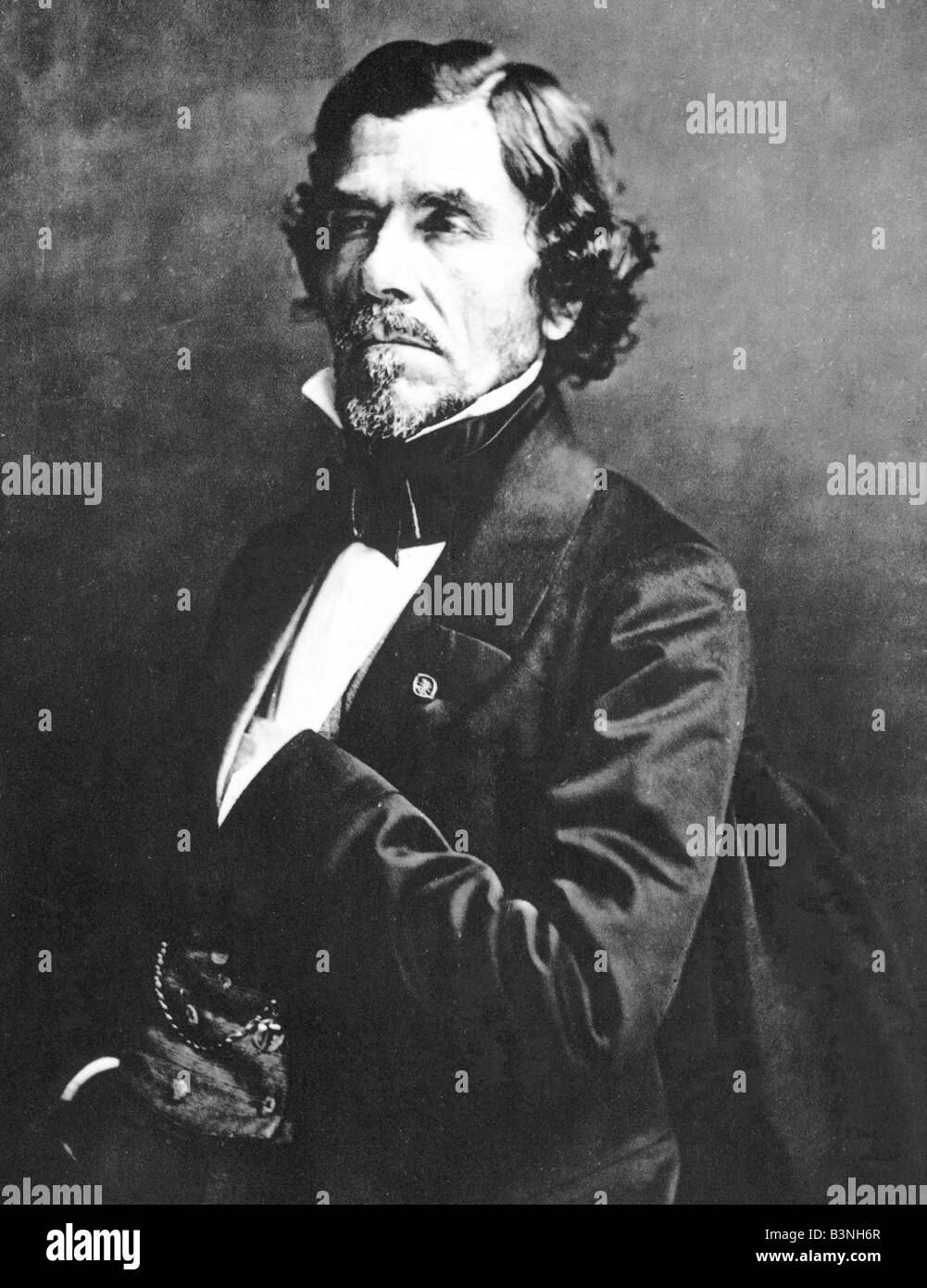 EUGENE DELACROIX  French painter 1798 to 1863 seen here in 1858 Stock Photo