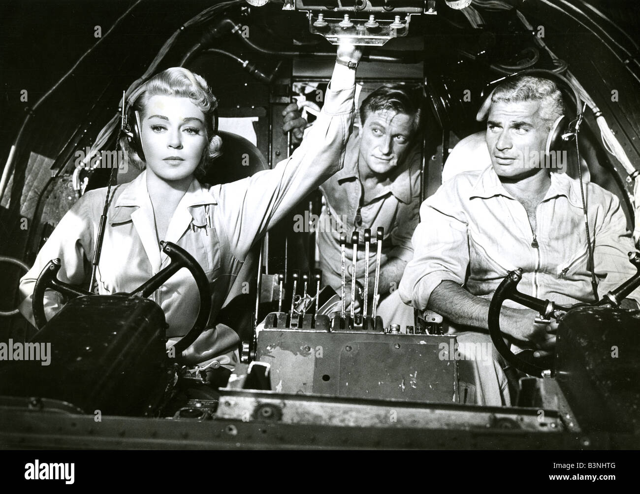 THE LADY TAKES A FLYER  1958 Universal-International film with Lana Turner and Jeff Chandler - Stock Image