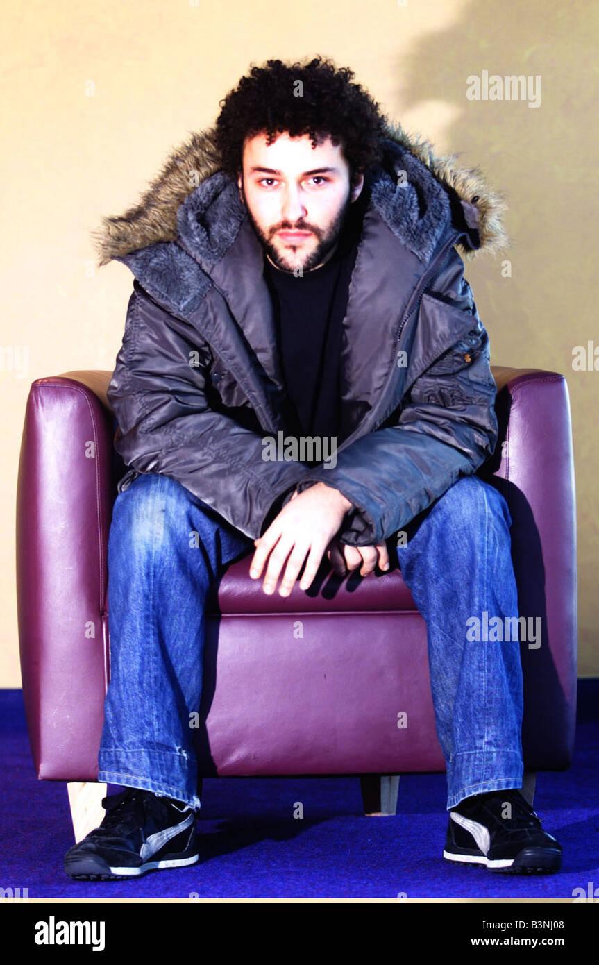 Actor Richard Mylan who is starting in 3rd series of BBC Wales Belonging playing Joe January 2002 - Stock Image