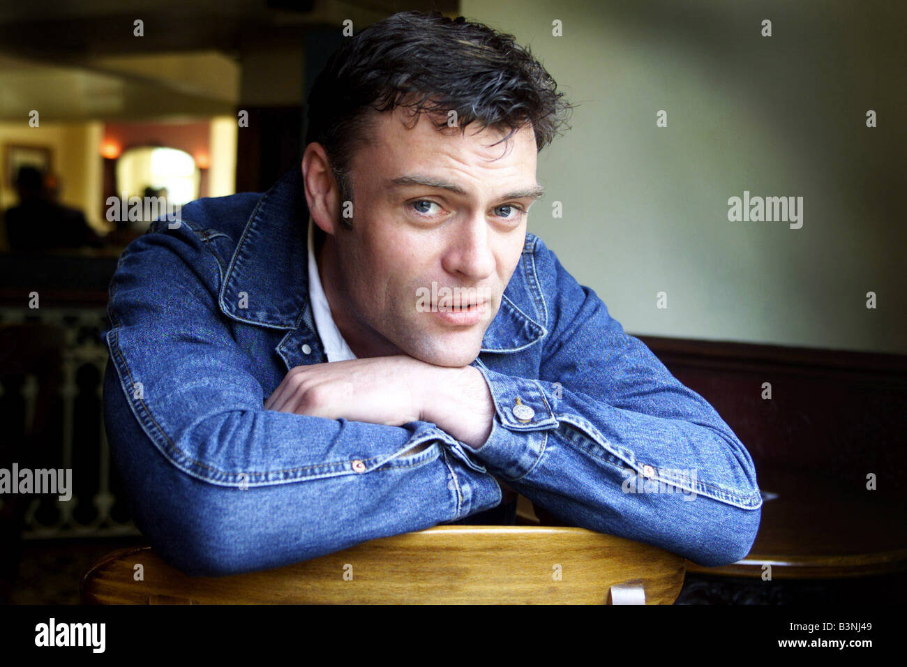 Welsh Actor Julian Lewis Jones April 2002 who is staring in ITV s where the heart is - Stock Image