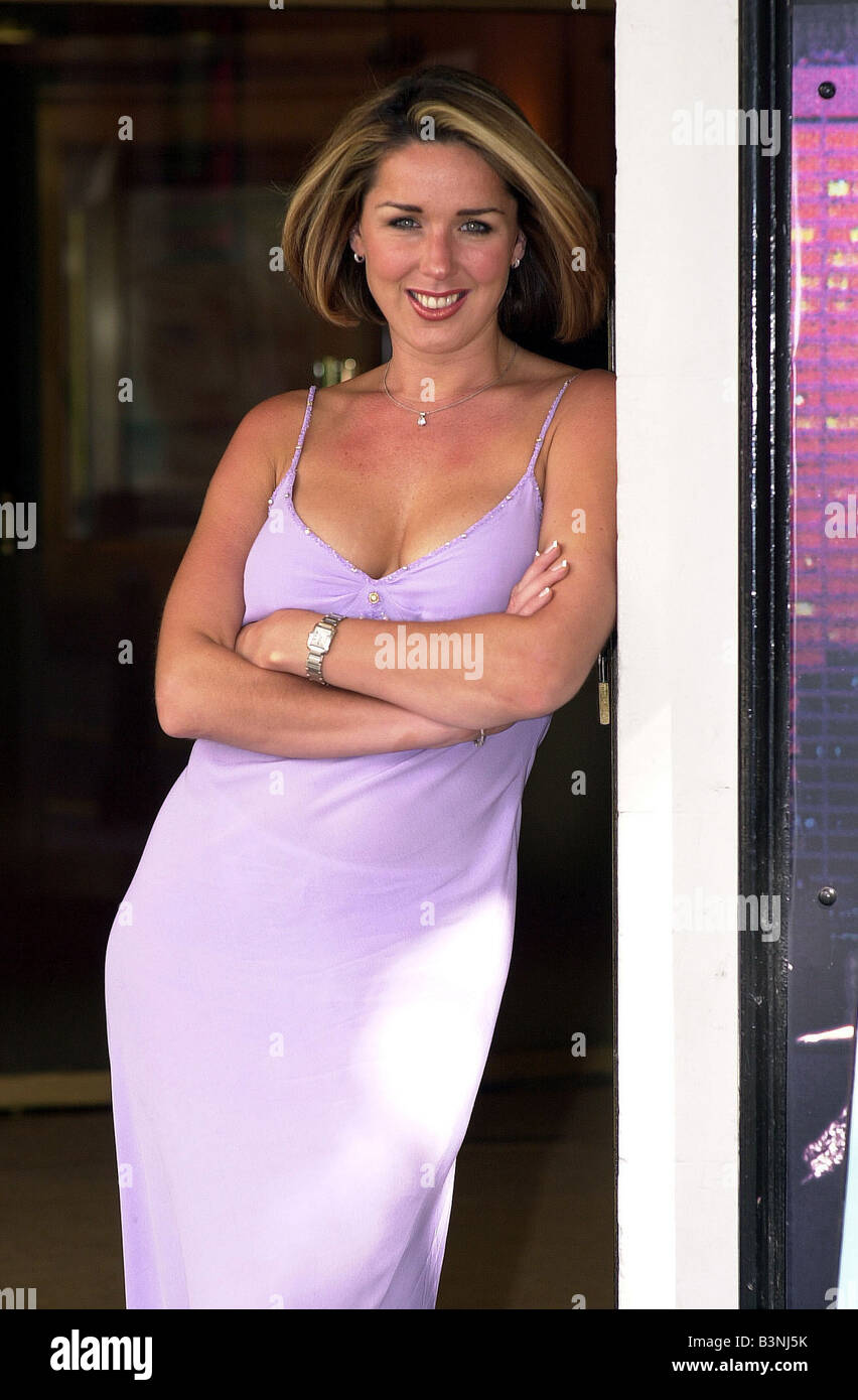 Actress and now singer Claire Sweeney June 2002 who will be launching her new album this summer - Stock Image