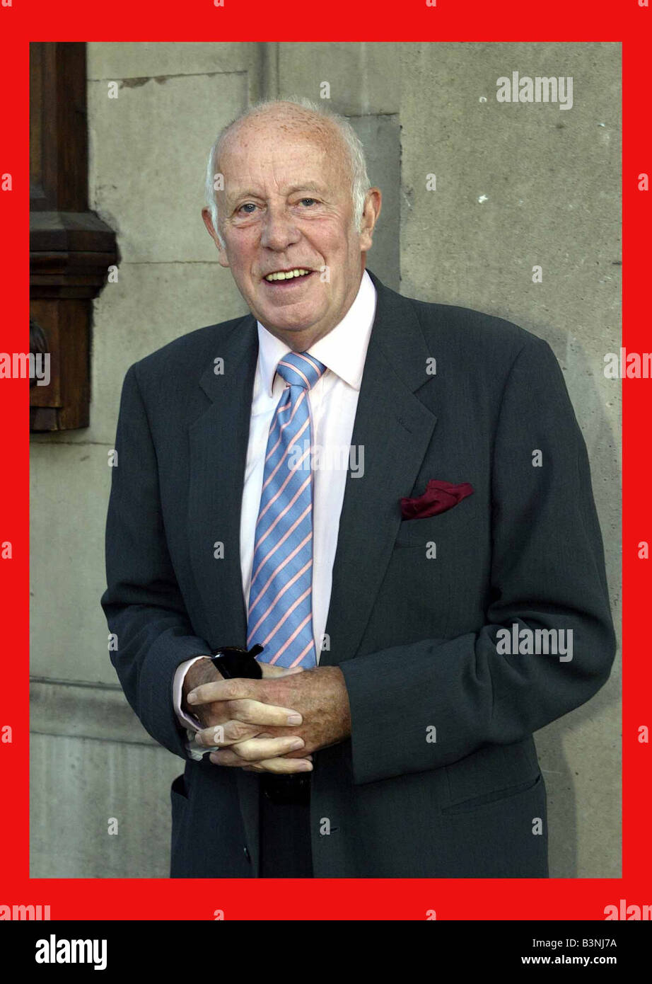 Richard Wilson actor at John Thaw Memorial Service for Actor September 2002 At St Martin in the Field in Trafalgar - Stock Image