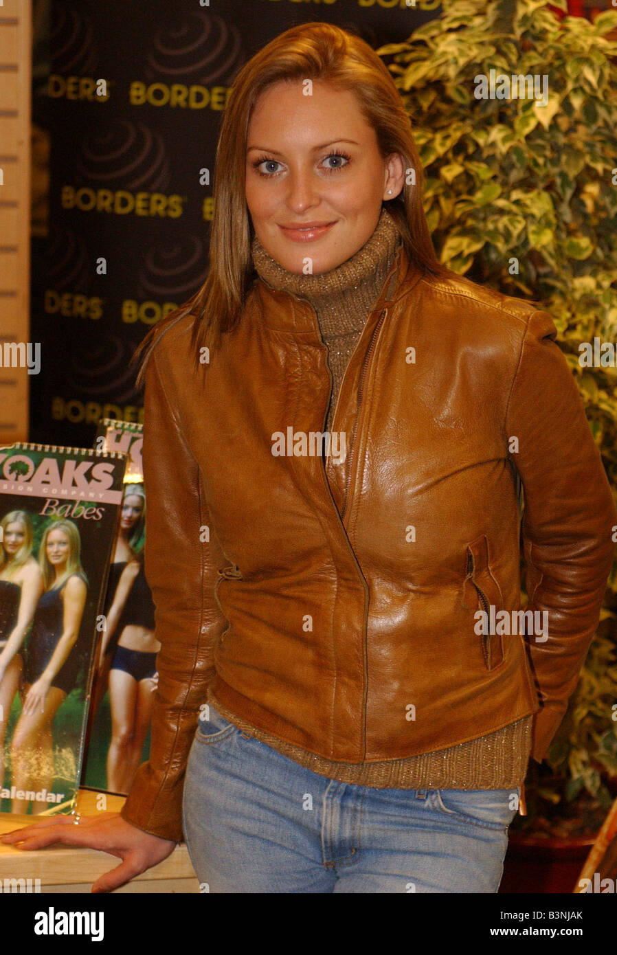 Joanna Taylor November 2001 Actress Pictured at Calendar Signing Borders Bookshop Oxford Street London Portrait - Stock Image
