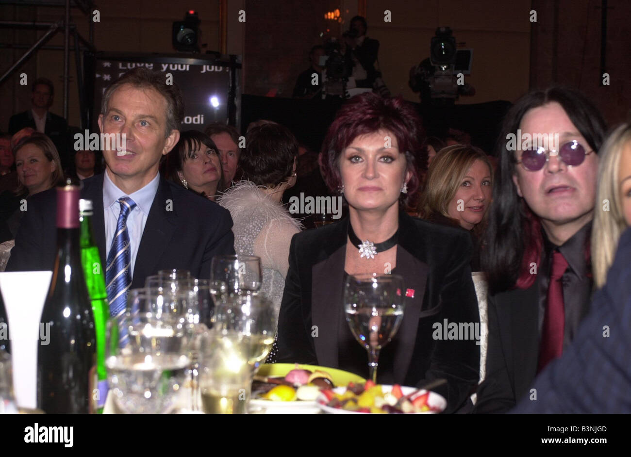Daily Mirror Pride Of Britain Awards 15th March 2004 Tony Blair Sharon Osbourne and Ozzy Osbourne at the Mirror - Stock Image