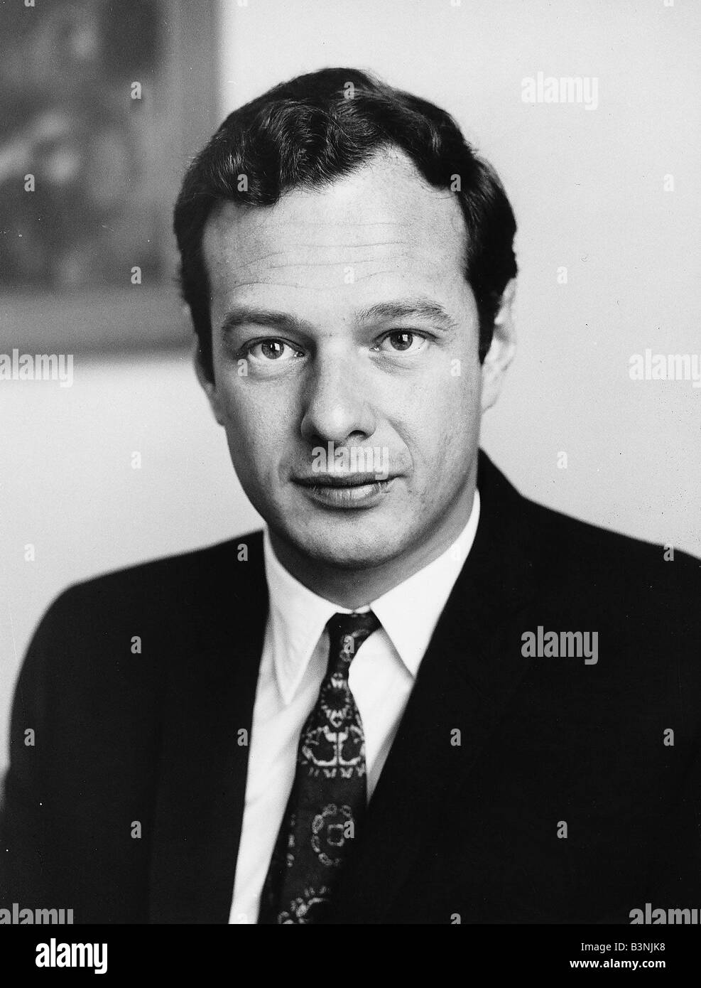 Record producer and Beatles manager Brian Epstein at press conference after the Beatles return from USA Circa September Stock Photo