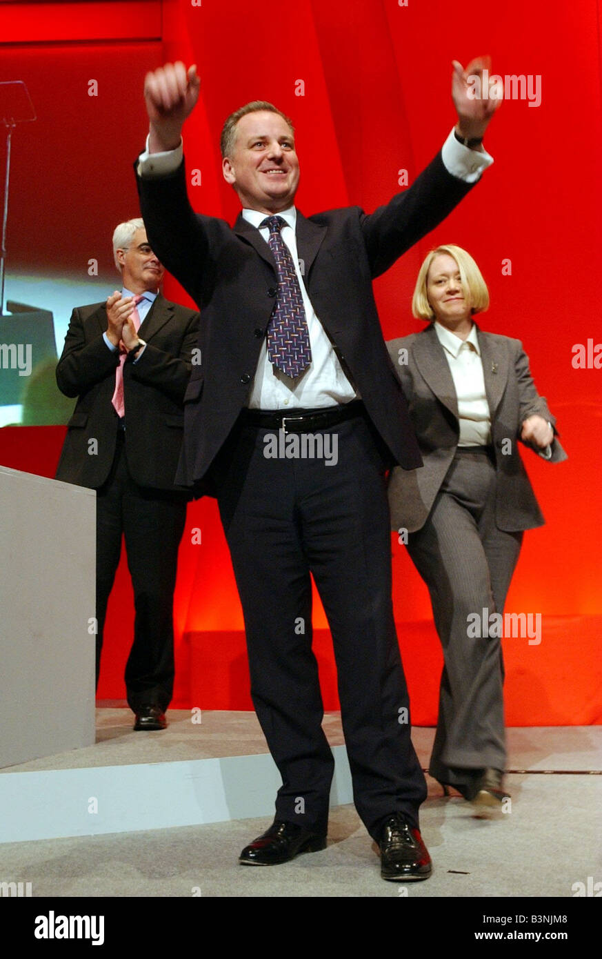 Scotland s First Minister Jack McConnell speaking at Labour Conference in Inverness February 2004 - Stock Image