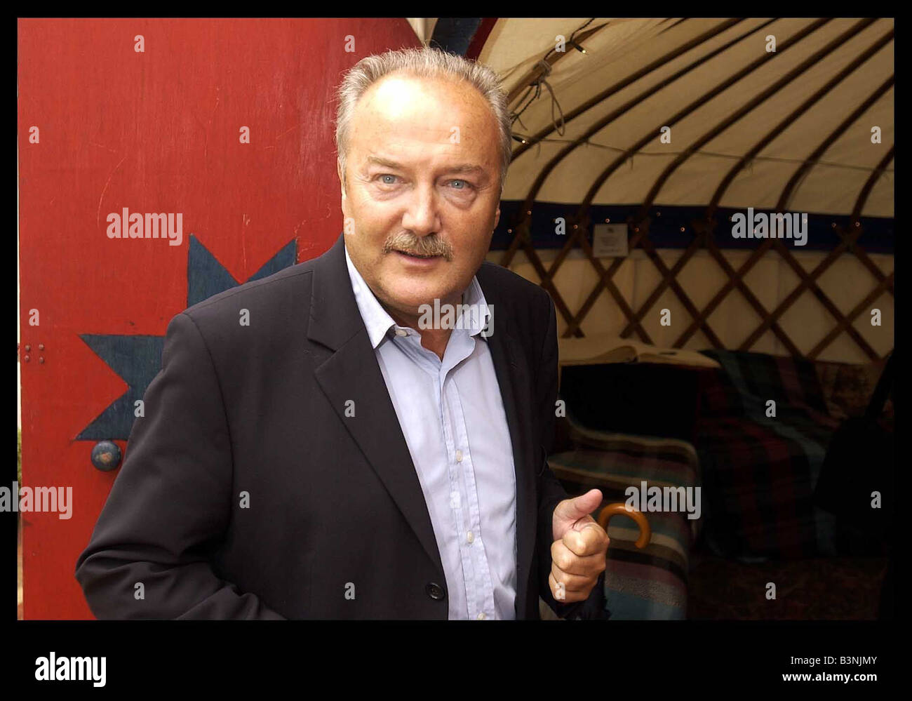 George Galloway at the photocall held at the Book Festival in Edinburgh today August 2004 - Stock Image