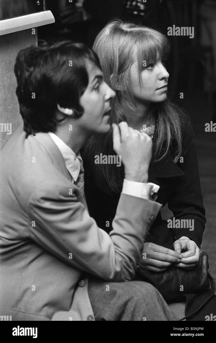 Paul McCartney Of The Pop Group Beatles With Girlfriend Jane Asher 1968