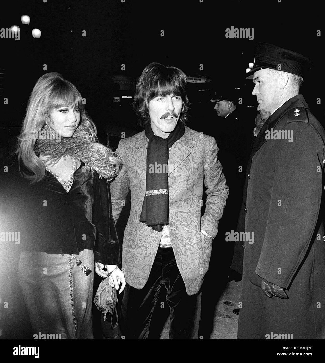 The Beatles October 1967 George Harrison Attending A Film Premiere In London With Wife Patti Boyd