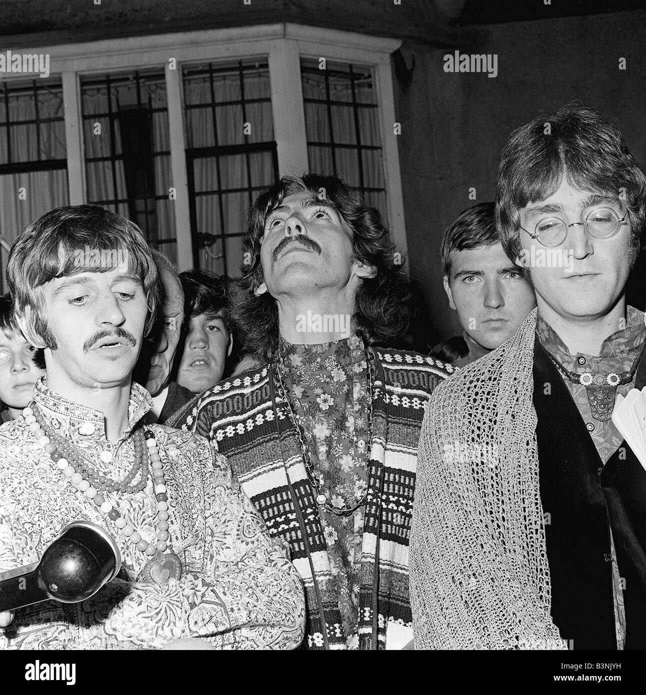 The Beatles August 1967 John Lennon Ringo Starr And George Harrison Answer Questions For Press