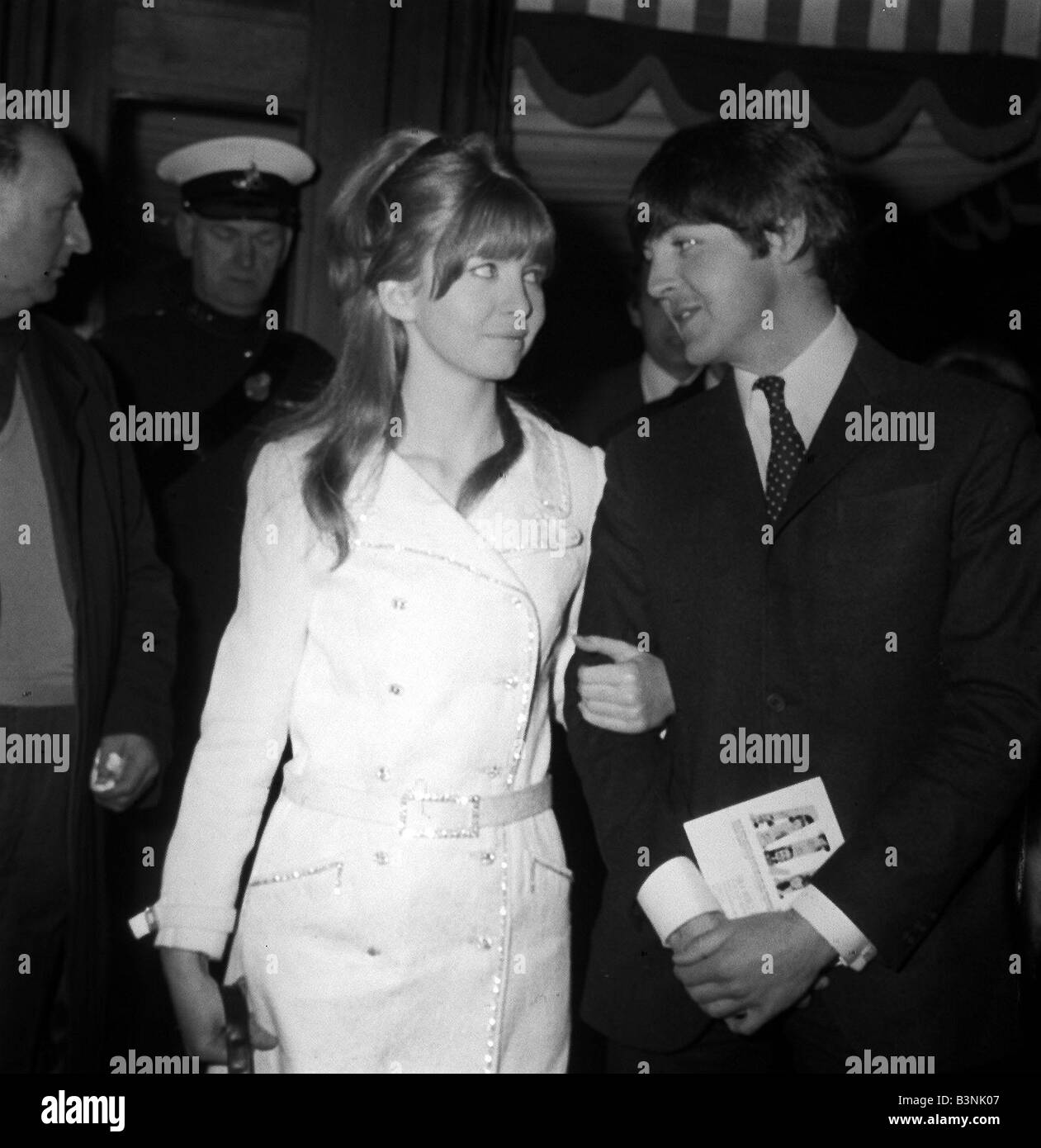Paul McCartney With Girlfriend Jane Asher March 1966