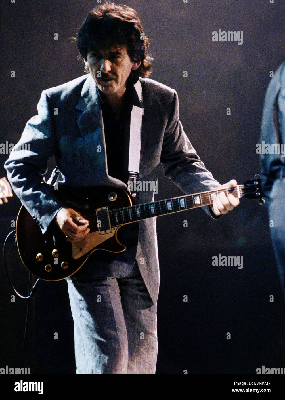 George Harrison On Stage Playing Guitar October 1992