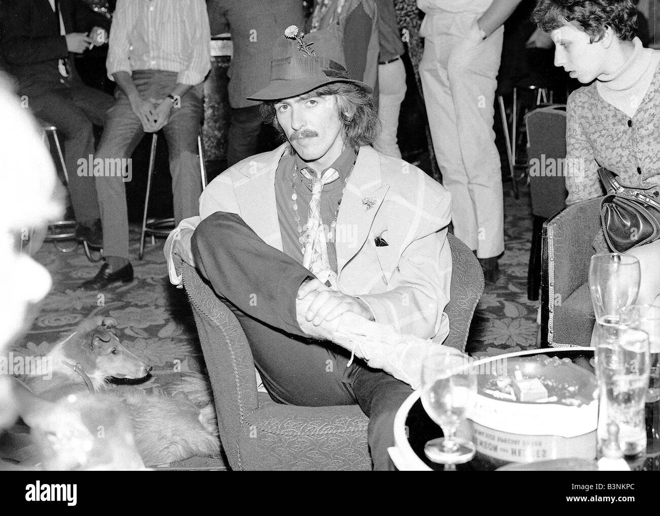 9ee4d1b5388f Beatles files 1967 George Harrison in Newquay after filming Magical mystery  tour film rests in bar September 1967