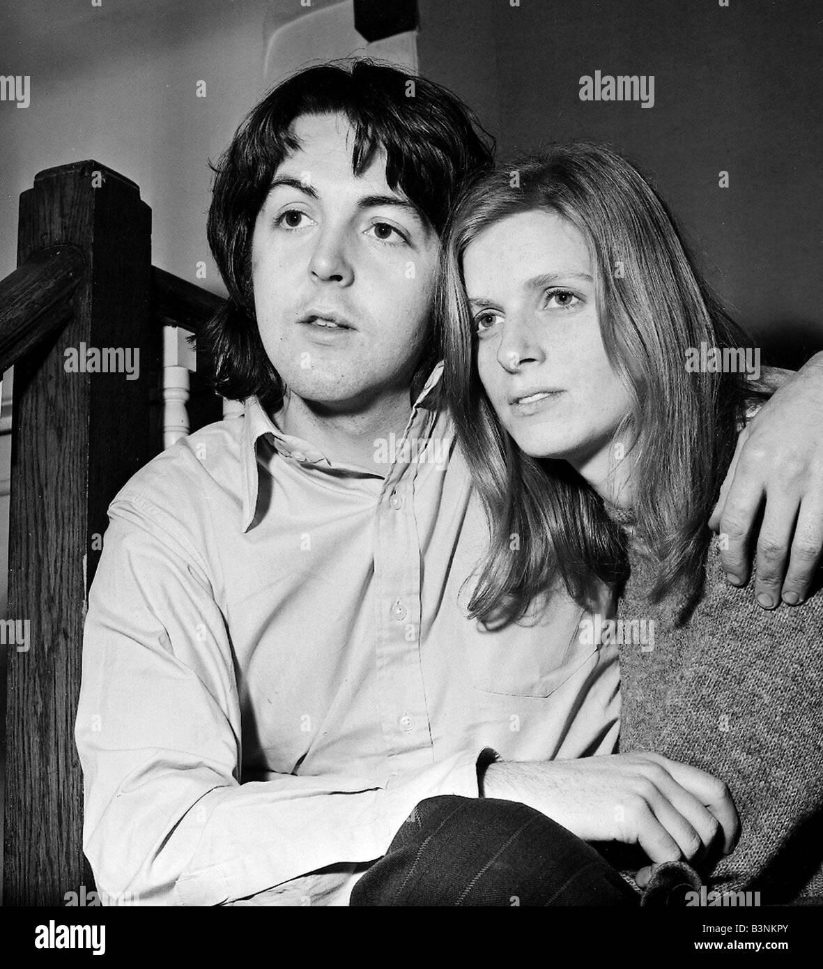Beatles Files 1969 Paul McCartney With Wife Linda At Home In St John Wood March