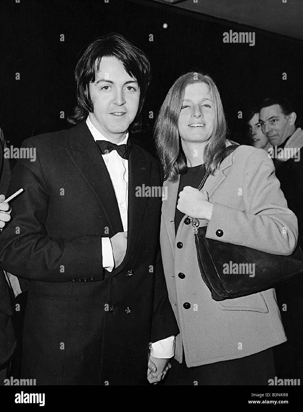 Beatles Files 1968 Paul McCartney With Wife Linda At Film Premiere Of Isadora March