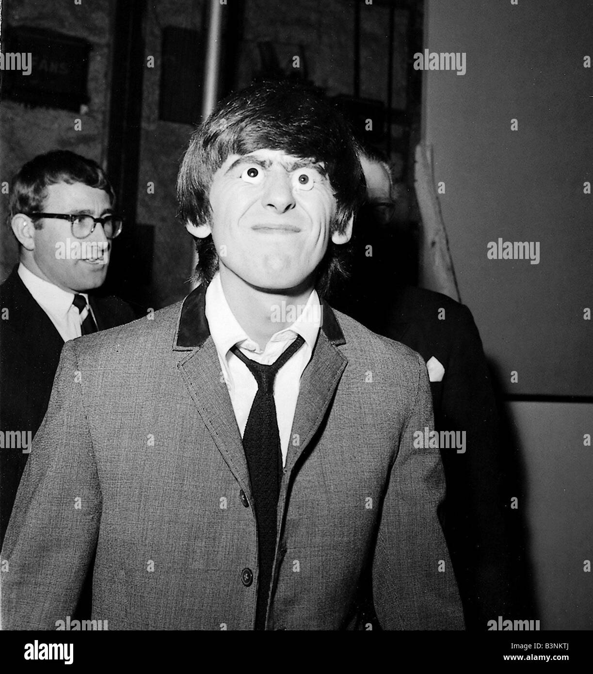 Beatles 1964 George Harrison Tries Out Glass Eyes On The Set Of A Hard Days Night March
