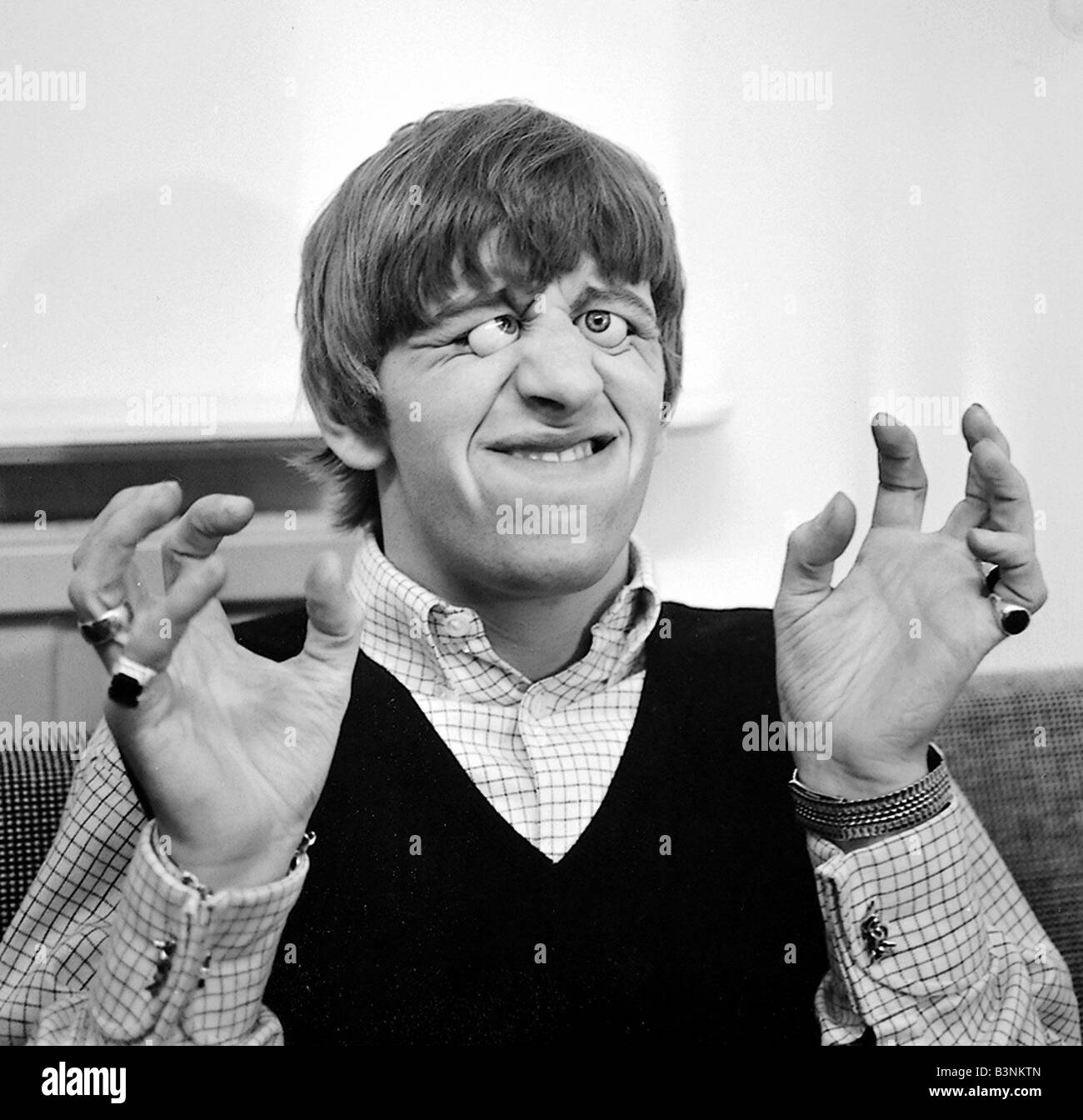 Beatles Files 1964 Ringo Starr With Glass Eyes On Set Of A Hard Days Night March