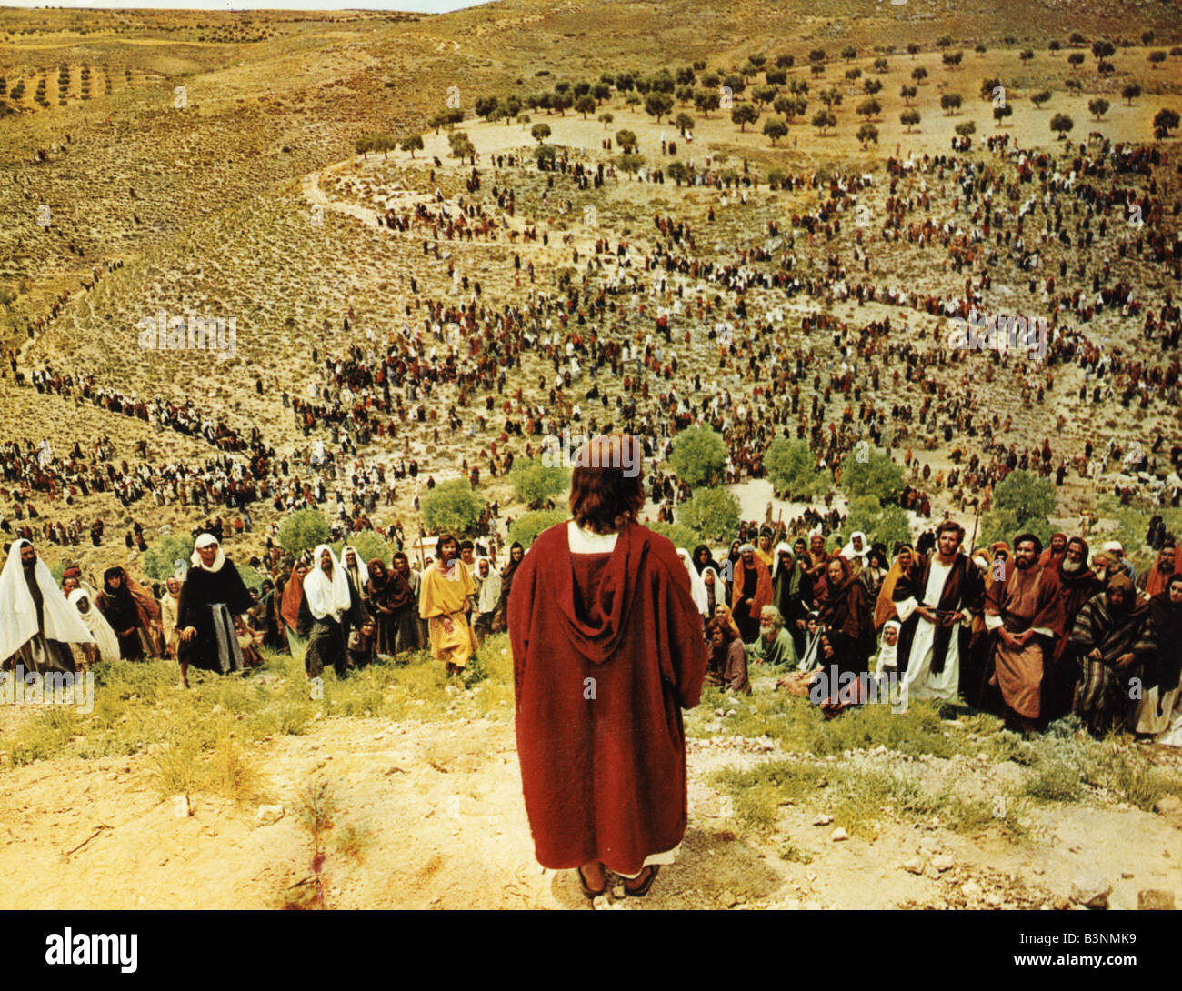 KING OF KINGS  1961 MGM film with Jeffrey Hunter as Christ - Stock Image