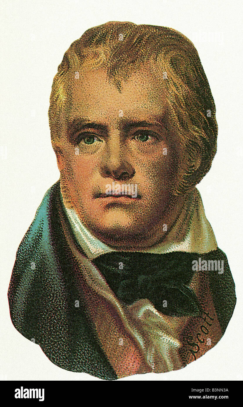 SIR WALTER SCOTT  Scottish novelist and poet 1771 to 1832 - Stock Image