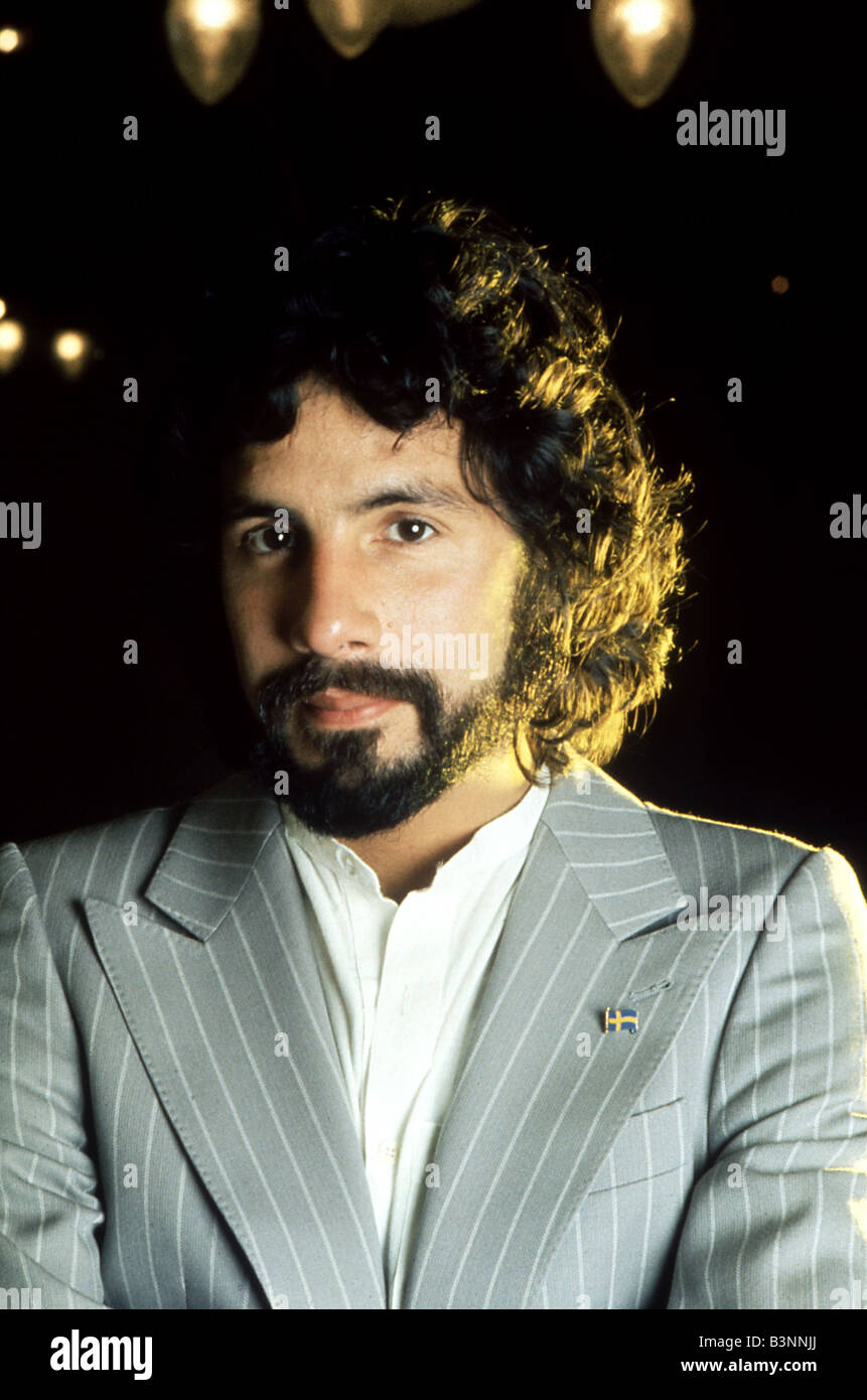CAT STEVENS  (Yusuf Islam) - UK pop singer about 1970. Photo Van Houten - Stock Image