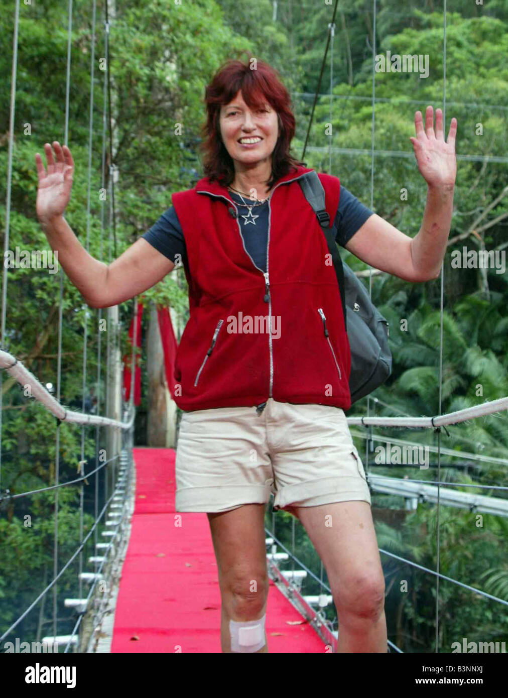 CELEBRITY GET ME OUTTA HERE JANET STREET PORTER LEAVING THE JUNGLE TODAY I m A Celebrity Mirrorpix - Stock Image
